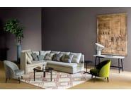 Corner sectional fabric sofa MANGOLD | Corner sofa - arflex