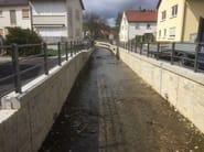 Opere fluviali, di difesa e di sistemazione idraulica e bonifica, getto in calcestruzzo su matrice RECKLI