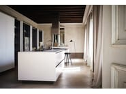 Bush-hammered stoneware kitchen with island MAXIMA 2.2 - COMPOSITION 1 - Cesar Arredamenti