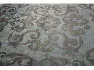 Handmade rectangular custom rug MAZARIN ARTY CELADON - EDITION BOUGAINVILLE