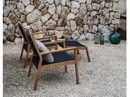 Garden armchair with armrests MAZE | Garden armchair - Gloster