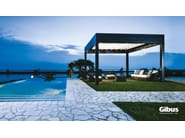 Freestanding aluminium pergola with sliding cover MED ROOM PLANA | Freestanding pergola - GIBUS