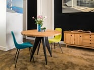 Round English oak dining table MEDUSA - ST FURNITURE