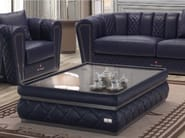 Low rectangular leather coffee table MELBOURNE | Rectangular coffee table - Tonino Lamborghini Casa by Formitalia Group