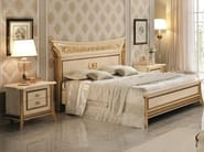 Wooden double bed with high headboard MELODIA | Bed - Arredoclassic
