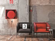 Fabric armchair with armrests METRO 15 | Armchair - Emmegi