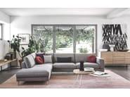 Sectional fabric sofa METRO - Calligaris