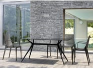 Lacquered tempered glass table METROPOLIS | Rectangular table - SCAB DESIGN