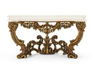 Classic style rectangular marble console table MG 5080/1 - OAK Industria Arredamenti