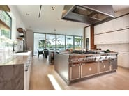Stainless steel kitchen with island MIAMI - Officine Gullo