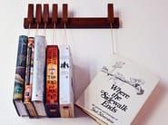 Libreria a parete in legno massello MINI BOOK RACK | Libreria in wengè - AGUSTAV