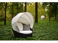 Round synthetic fibre garden sofa MINIARENA - Varaschin