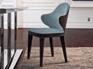 Upholstered fabric chair with armrests MISS | Fabric chair - Longhi