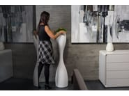 High polyethylene vase MOAI - PLUST Collection by euro3plast