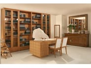 Freestanding wood and glass bookcase BIBLIOTECA | Freestanding bookcase - Morelato