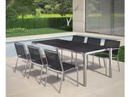 Rectangular garden table MODENA | Garden table - FISCHER MÖBEL