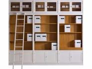 Lacquered modular bookcase MODULO '900 | Lacquered bookcase - Morelato