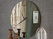 Crystal mirror / clock MOMENT - Cattelan Italia