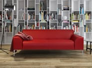 Upholstered 2 seater leather sofa MONTMARTRE | 2 seater sofa - Burov