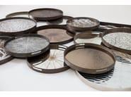 Round tray MOROCCAN CHOCOLATE - Notre Monde