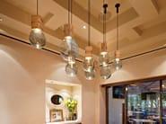 Handmade blown glass pendant lamp MOULDS - Lasvit