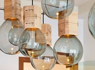 Handmade blown glass pendant lamp MOULDS - Lasvit