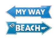Powder coated steel wall decor item MY WAY - BEACH - KARE-DESIGN