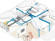 Channel and conduit for air conditioning system ModulAir - RDZ