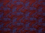 Linen upholstery fabric with graphic pattern NAMI - LELIEVRE
