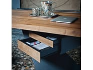 Wooden writing desk with drawers NASDAQ - Cattelan Italia