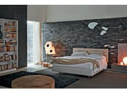 Double bed with upholstered headboard NATURE | Bed with upholstered headboard - MOLTENI & C.