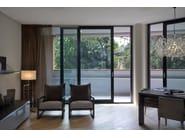 Porta-finestra scorrevole in alluminio con triplo vetro NC-S 170 STH HES - METRA