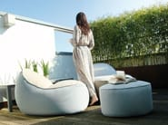 Fabric pouf with removable lining NEST | Garden pouf - GART Art & Design Group