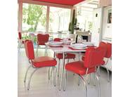 Upholstered restaurant chair New Orleans 108 - Metalmobil