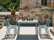 Square porcelain stoneware garden table NEWTILE | Square table - FAST