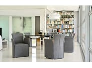 Leather easy chair with armrests NIDO | Easy chair with armrests - Calligaris