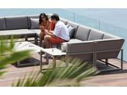 Sled base 2 seater Batyline® garden sofa NINIX LOUNGE | 2 seater sofa - ROYAL BOTANIA