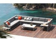 Low rectangular garden side table NINIX | Rectangular coffee table - ROYAL BOTANIA