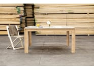 Square solid wood table NODOO | Square table - NODOO