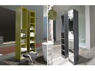 Tall bathroom cabinet with mirror NOMADE - Antonio Lupi Design®
