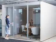 Acoustic meeting pod with built-in lights NOOXS THINK TANK - BENE