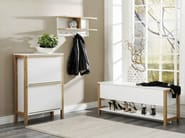 Lacquered wooden shoe cabinet NORTHGATE | Shoe cabinet - Woodman