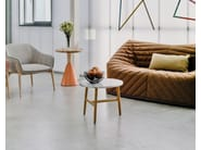 Round wooden coffee table NUDO | Round coffee table - SANCAL