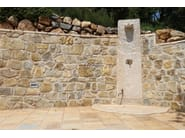 Natural stone outdoor shower Natural stone outdoor shower - Garden House Lazzerini