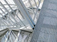 Expanded metal Suspended walkway / Grille Non-slip grating - FILS