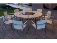 Sedia da giardino in Batyline® con braccioli O-ZON | Sedia con braccioli - ROYAL BOTANIA