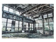Photographic print / Print on glass OLD INDUSTRIAL HALL - KARE-DESIGN