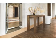 Extending rectangular wooden console table OMNIA | Extending console table - Calligaris