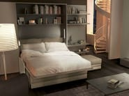 Lacquered storage wall with fold-away bed ON-OFF 203 - TUMIDEI