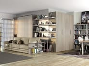 Storage wall with fold-away bed ON-OFF 207 - TUMIDEI